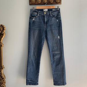 Frame Stretch Le High Straight High Waist Jeans